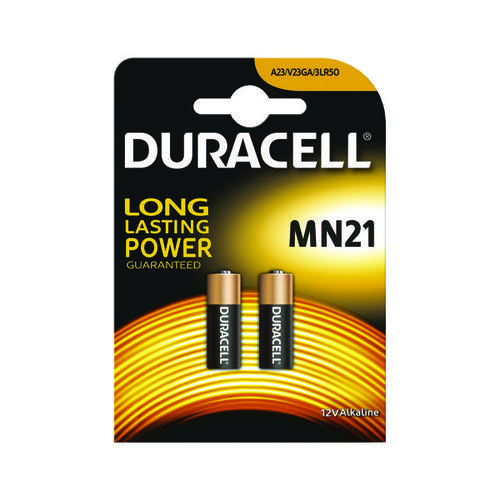 Duracell MN21 Alkaline Cell Battery 12V / A23 / 23A / LRV08 75072670 [Pack 2]