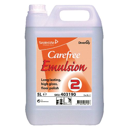 Carefree Floor Emulsion 5 Litre (Pack of 2) 403190