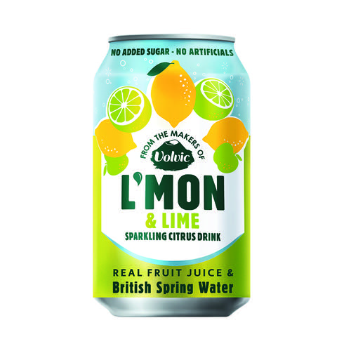 Volvic L'Mon Sparkling Lemon and Lime 330ml (Pack of 12) 145922