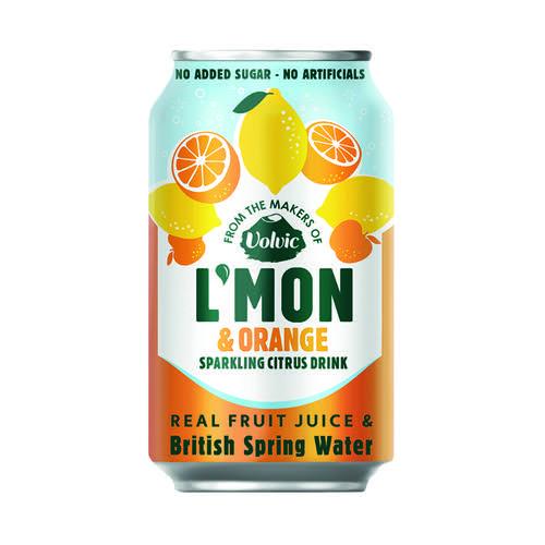 Volvic L Mon Sparkling Lemon and Orange 330ml (Pack of 12) 145921