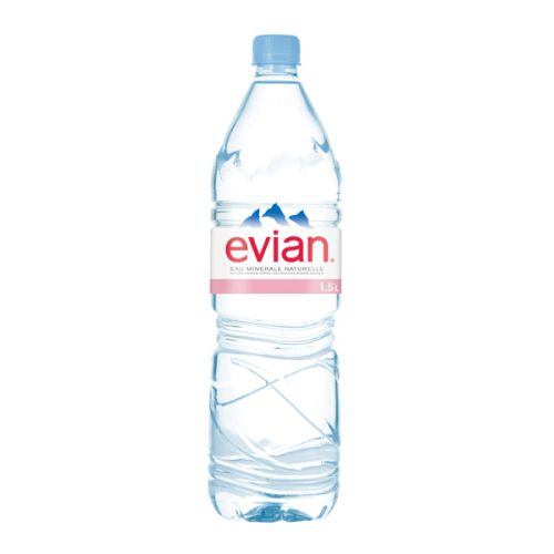 Evian Natural Spring Water 1.5 Litre (Pack of 12) A0390112