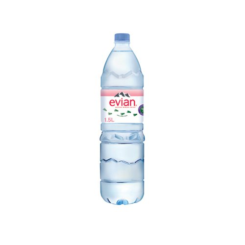 Evian Natural Spring Water 1.5 Litre (Pack of 8) 143136