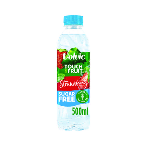 Volvic Touch of Fruit Strawberry Fruit Water 500ml (Pack of 12) 122440