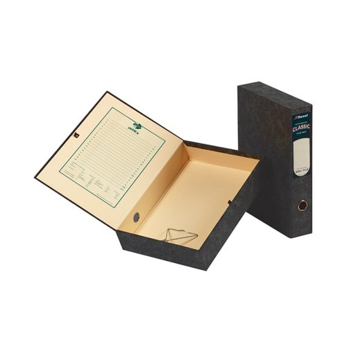 Rexel Classic Box File Lockspring Foolscap Black (Pack of 5) 30115EAST