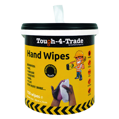 EcoTech Industrial Hand Wipes 300x250mm 150 Sheets EBMH150