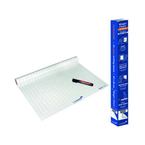 Legamaster Magic Chart Gridded Roll White 600x800mm 1590-00