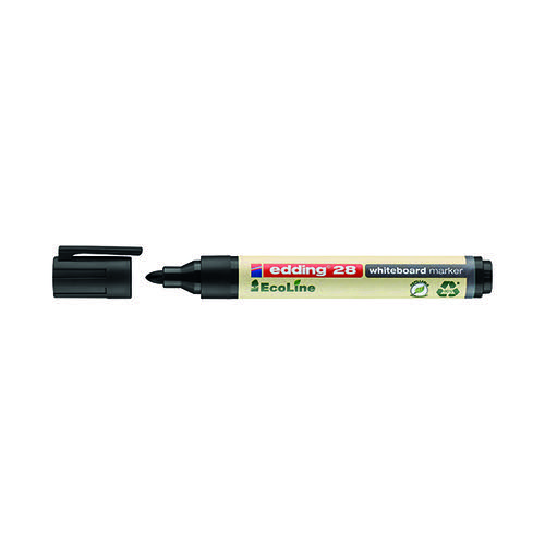 Edding 28 Ecoline Whiteboard Marker Bullet Tip (Pack of 10) 4-28001