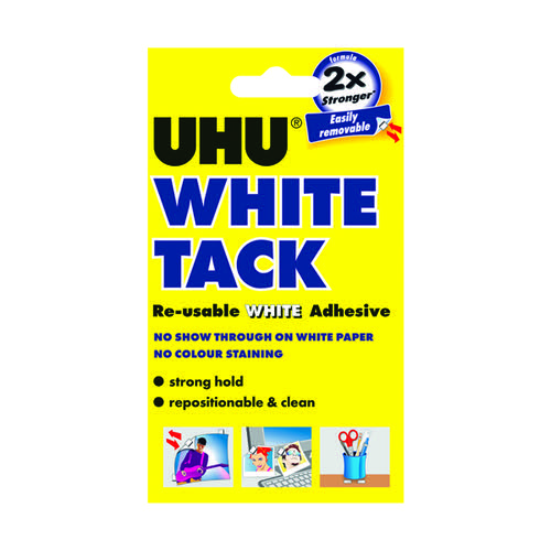 UHU White Tack 50g (Pack of 12) 42196