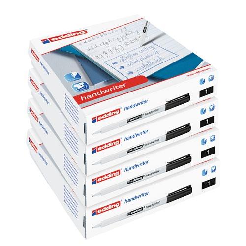 Edding Handwriter Class Pack Black (Pack of 200) 5 for 4 ED810671