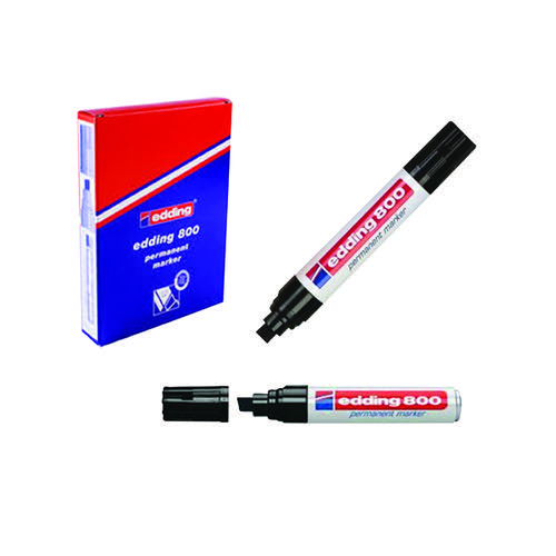 Edding 800 Chisel Tip Permanent Marker Extra Large Black (Pack of 5) 800/5-001