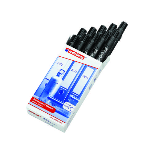 Edding 2000C Permanent Marker Bullet Tip Black (Pack of 10) 2000C-001