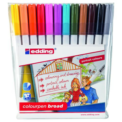 Edding Colourpen Broad (Pack of 12) 1420999