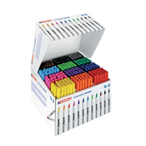 Edding Colourpen Broad Assorted (Pack of 288) 300461000