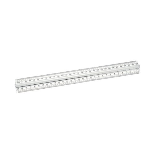Classmaster Finger Grip Ruler Clear (Pack of 10) FGR10