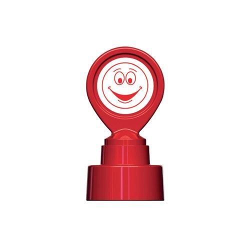 COLOP Motivational Stamp Happy Face Red (Impression size: 22 x 22mm) MOTIVSM