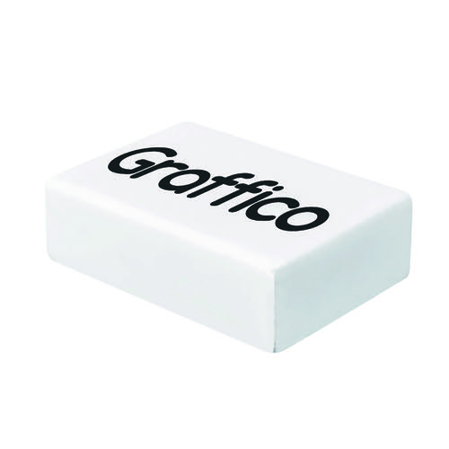 Graffico Plastic Eraser White (Pack of 45) EN05992