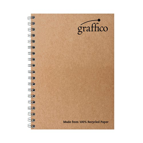 Graffico Recycled Wirebound Notebook 160Pg A4 (Pack of 10) EN07340