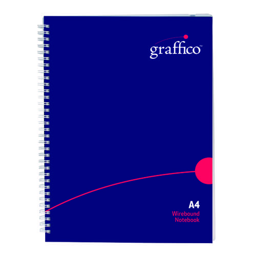 Graffico Hard Cover Wirebound Notebook 160 Pages A4 500-0510