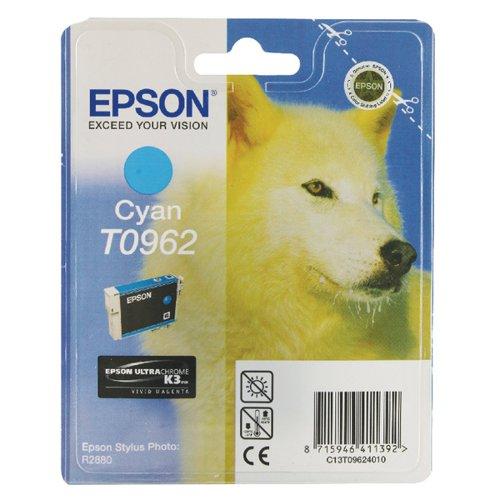 Epson T0962 Cyan Inkjet Cartridge C13T09624010 / T0962