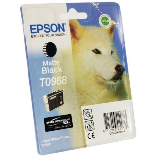Epson T0968 Matte Black Inkjet Cartridge C13T09684010 / T0968
