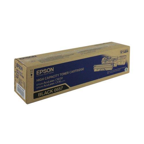 Epson AcuLaser C1600/CX16 Toner Cartridge High Capacity 2.7K Black C13S050557
