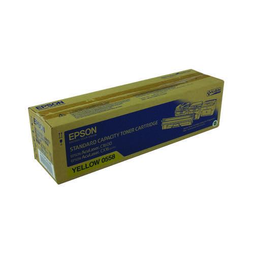 Epson AcuLaser C1600/CX16 Yellow Toner Cartridge Standard Capacity 1.6K C13S050558