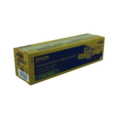 Epson AcuLaser C1600/CX16 Cyan Toner Cartridge Standard Capacity 1.6K C13S050560