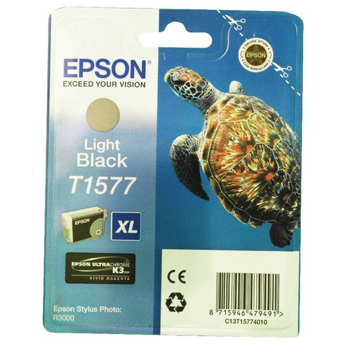 Epson T1577 Light Black Inkjet Cartridge C13T15774010 / T1577