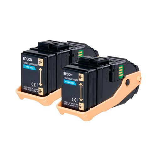Epson S050608 Cyan Toner Cartridge Twin Pack (Pack of 2) C13S050608