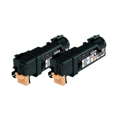 Epson S050631 Black Toner Cartridge Twin Pack (Pack of 2) C13S050631