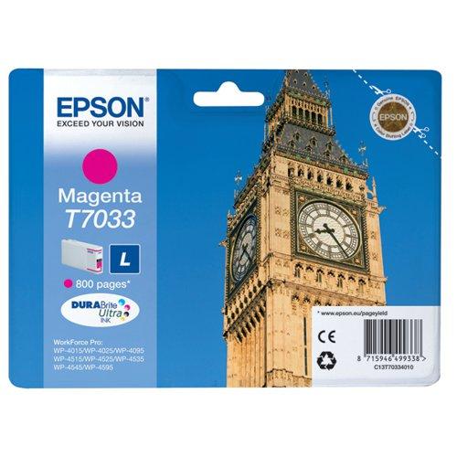 Epson T7033 Magenta Inkjet Cartridge C13T70334010 / T7033