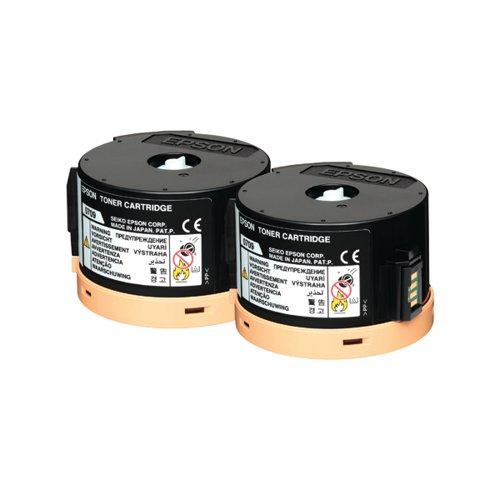 Epson S050710 Black Toner Cartridge Twin Pack (Pack of 2) C13S050710