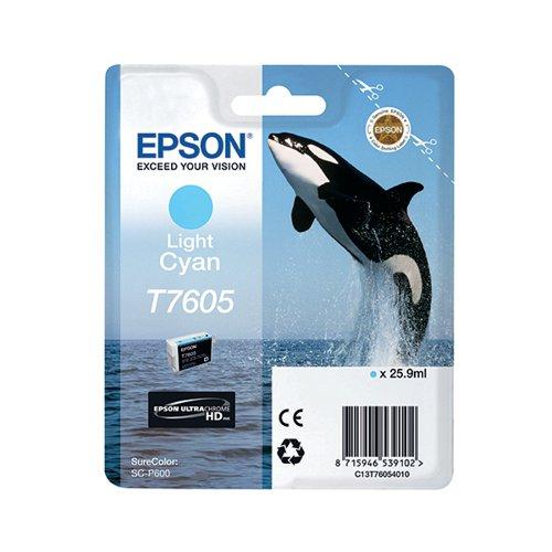 Epson T7605 Light Cyan Ink Cartridge C13T76054010 / T7605