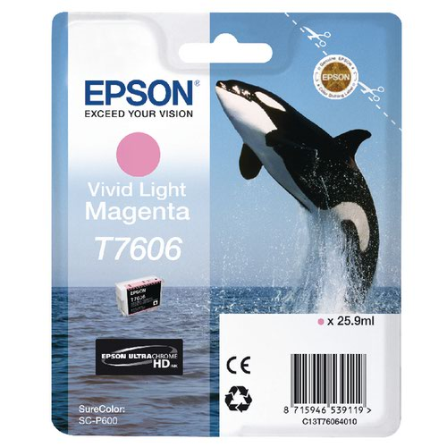 Epson T7606 Vivid Light Magenta Ink Cartridge C13T76064010 / T7606