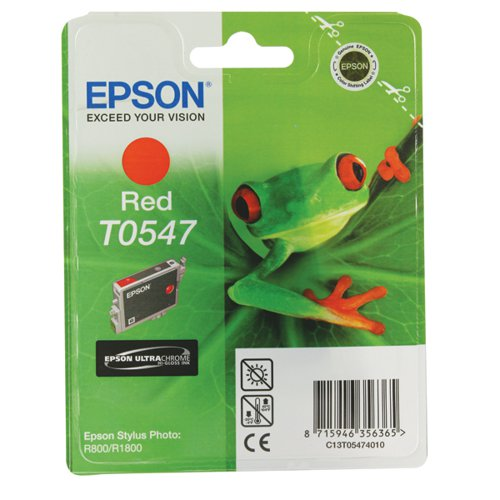 Epson T0547 Red Inkjet Cartridge C13T05474010 / T0547