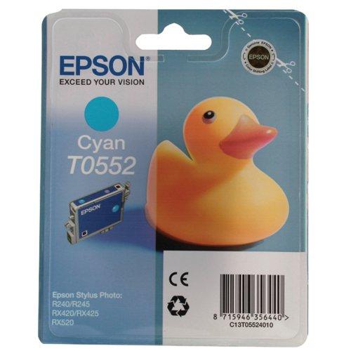 Epson T0552 Cyan Inkjet Cartridge C13T05524010 / T0552