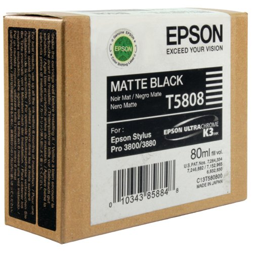 Epson T5808 Matte Black Inkjet Cartridge C13T580800 / T5808