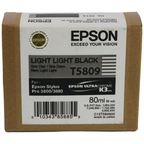 Epson T580900 Light Light Black Ink Cartridge C13T580900 / T5809