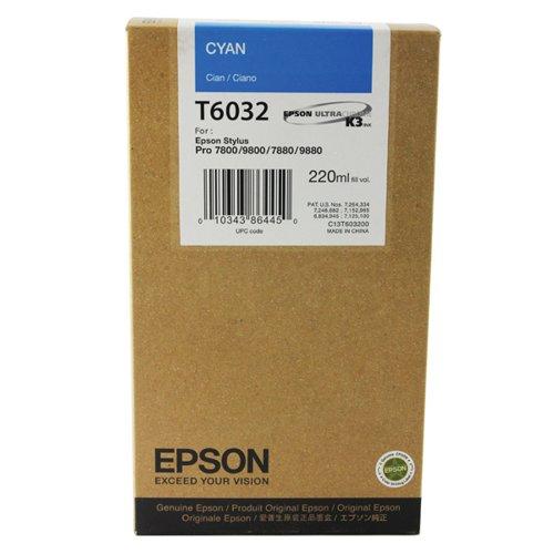 Epson T6032 High Yield Cyan Inkjet Cartridge C13T603200 / T6032