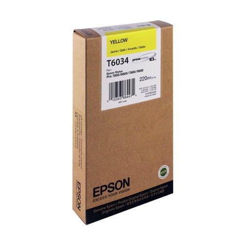 Epson T6034 High Yield Yellow Inkjet Cartridge C13T603400 / T6034