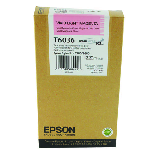 Epson T6036 Light Vivid High Yield Magenta Inkjet Cartridge C13T603600 / T6036