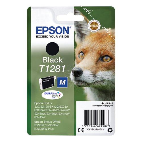 Epson T1281 Black Inkjet Cartridge C13T12814012