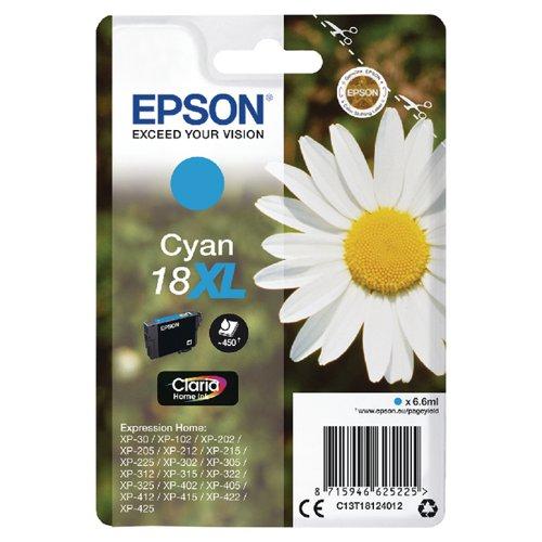 Epson 18XL Cyan Inkjet Cartridge C13T18124012