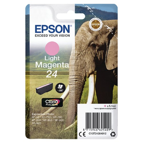 Epson 24 Light Magenta Inkjet Cartridge C13T24264012