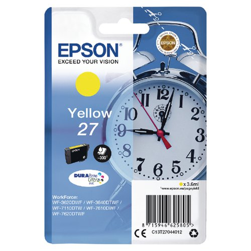 Epson 27 Yellow Inkjet Cartridge C13T27044012