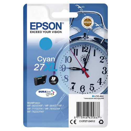 Epson 27XL Cyan Inkjet Cartridge C13T27124012