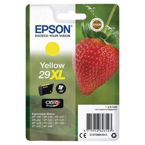 Epson 29XL Yellow Inkjet Cartridge C13T29944012