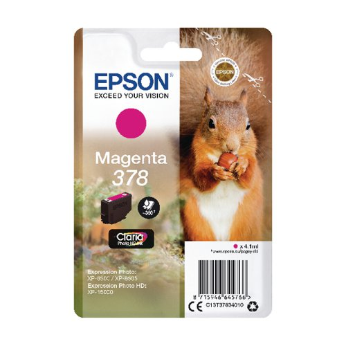 Epson 378 Magenta HD Inkjet Cartridge C13T37834010