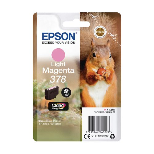 Epson 378 Light Magenta HD Inkjet Cartridge C13T37864010