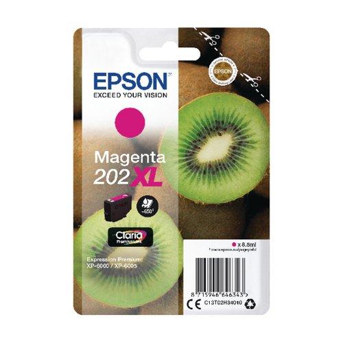 Epson 202XL Magenta Inkjet Cartridge (650 page capacity) C13T02H34010